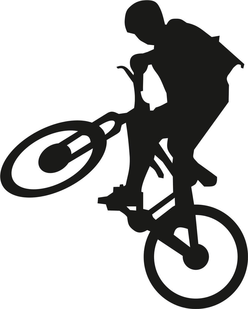 Наклейка автомобильная Оранжевый слоник Велосипедист 2, виниловая, цвет: черный150SP0004BОригинальная наклейка Оранжевый слоник Велосипедист изготовлена из высококачественного винила, который выполняет не только декоративную функцию, но и защищает кузов от небольших механических повреждений, либо скрывает уже существующие. Виниловые наклейки на авто - это не только красиво, но еще и быстро! Всего за несколько минут вы можете полностью преобразить свой автомобиль, сделать его ярким, необычным, особенным и неповторимым!