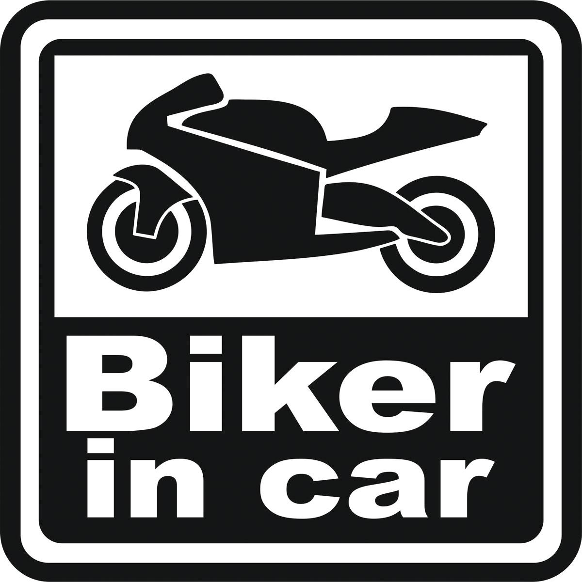 Наклейка автомобильная Оранжевый слоник Biker in Car, виниловая, цвет: черный150MT00021BОригинальная наклейка Оранжевый слоник Biker in Car изготовлена из высококачественной виниловой пленки, которая выполняет не только декоративную функцию, но и защищает кузов автомобиля от небольших механических повреждений, либо скрывает уже существующие. Виниловые наклейки на автомобиль - это не только красиво, но еще и быстро! Всего за несколько минут вы можете полностью преобразить свой автомобиль, сделать его ярким, необычным, особенным и неповторимым!