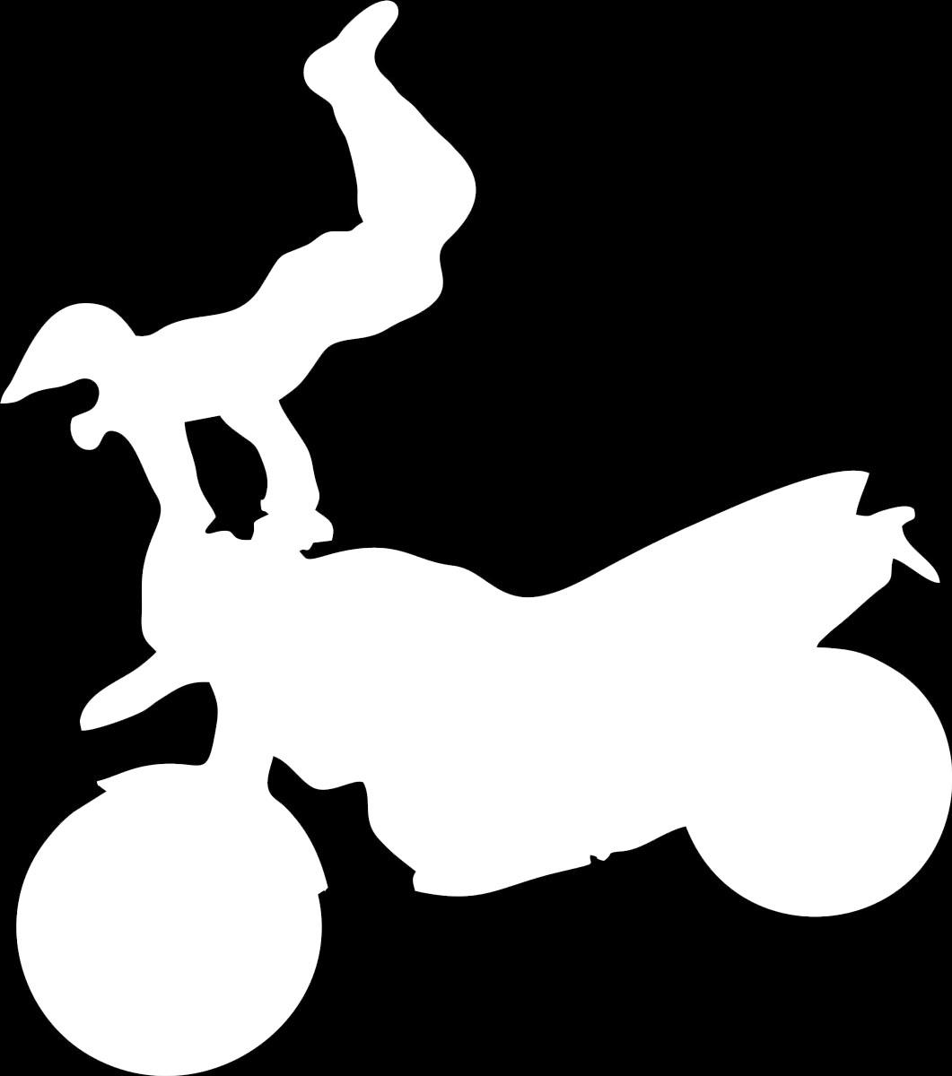 Наклейка автомобильная Оранжевый слоник Мотоциклист 4, виниловая, цвет: белый150MT0004WОригинальная наклейка Оранжевый слоник Мотоциклист 4 изготовлена из высококачественной виниловой пленки, которая выполняет не только декоративную функцию, но и защищает кузов автомобиля от небольших механических повреждений, либо скрывает уже существующие. Виниловые наклейки на автомобиль - это не только красиво, но еще и быстро! Всего за несколько минут вы можете полностью преобразить свой автомобиль, сделать его ярким, необычным, особенным и неповторимым!