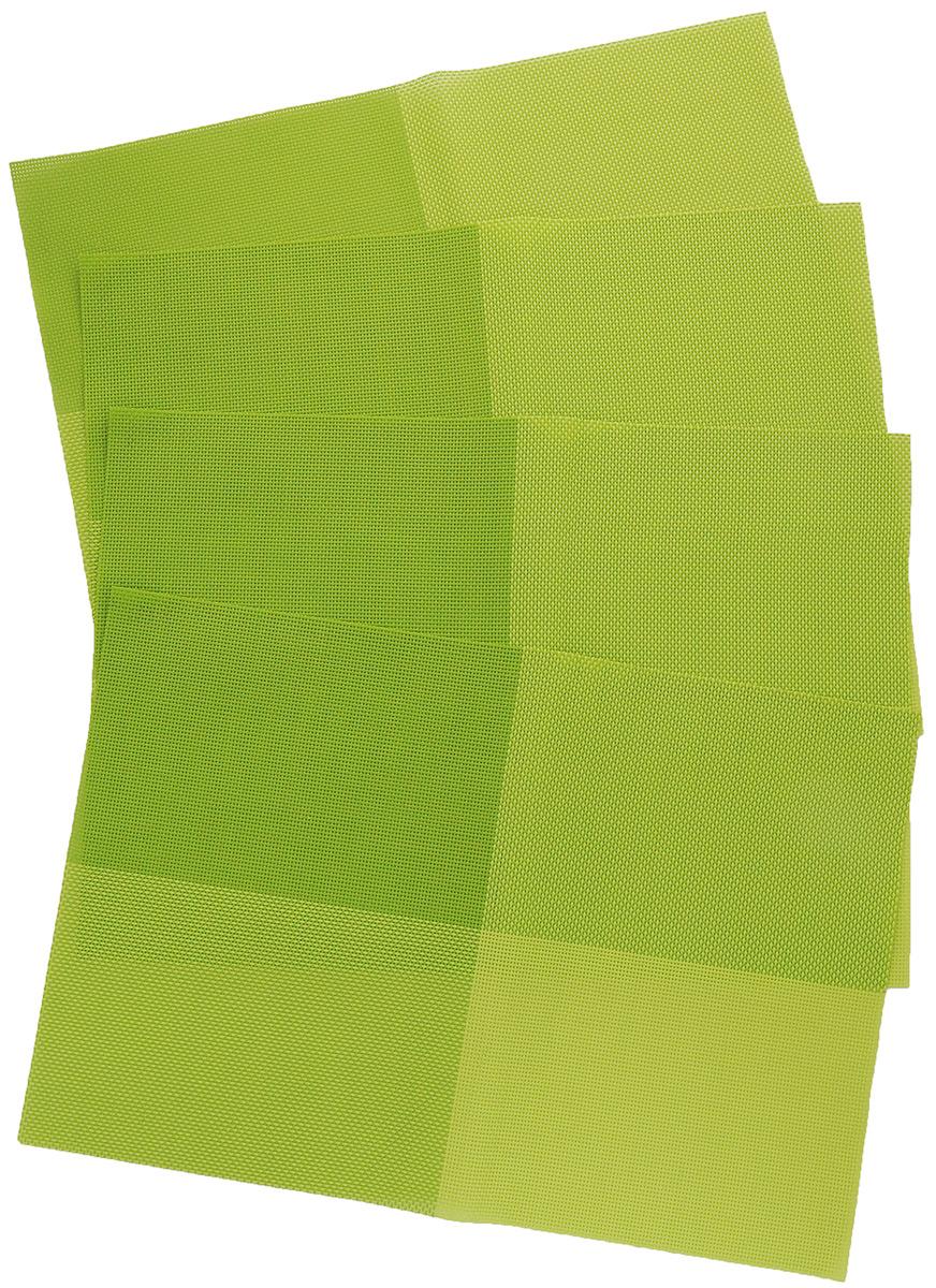 Набор салфеток под горячее Proffi Home Классика, цвет: зеленый, 45 х 30 см, 4 штPH3664Набор Proffi Классика, состоящий из 4 салфеток под горячее, идеально впишется в интерьер современной кухни. Салфетки, выполненные из текстилена, не впитывают влагу, легко моются, не деформируются при длительном использовании, пропускают воздух, выдерживают температуру до 100°С. Каждая хозяйка знает, что салфетка под горячее - это незаменимый и очень полезный аксессуар на каждой кухне. Ваш стол будет не только украшен оригинальной салфеткой, но и сбережен от воздействия высоких температур ваших кулинарных шедевров. Состав: текстилен (70% ПВХ, 30% полиэстер). Размер салфетки: 45 х 30 см.