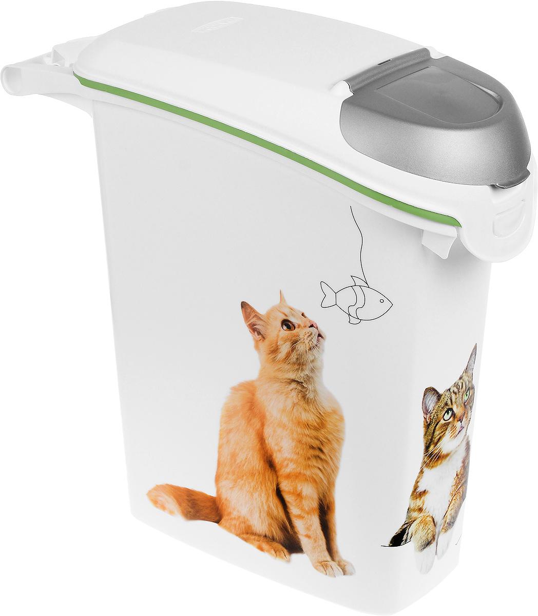 Контейнер для хранения сухого корма Curver Petlife. Кошачьи цап-царапки, 23 л0120710Контейнер Curver Petlife. Кошачьи цап-царапки, изготовленный из высококачественного пластика, предназначен для хранения сухого корма. Он оснащен плотно закрывающейся крышкой, что позволяет предотвратить проникновение не только влаги, но паразитов и грызунов. Изделие декорировано ярким изображением кошек. В таком контейнере корм останется всегда свежим.Объем: 23 л. Вес корма: 10 кг.Размер контейнера: 50 х 21 х 50 см.