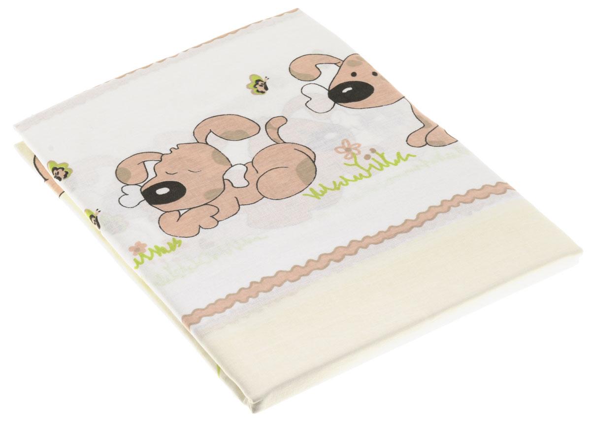 Топотушки Комплект детского постельного белья Дружок цвет белый 3 предмета