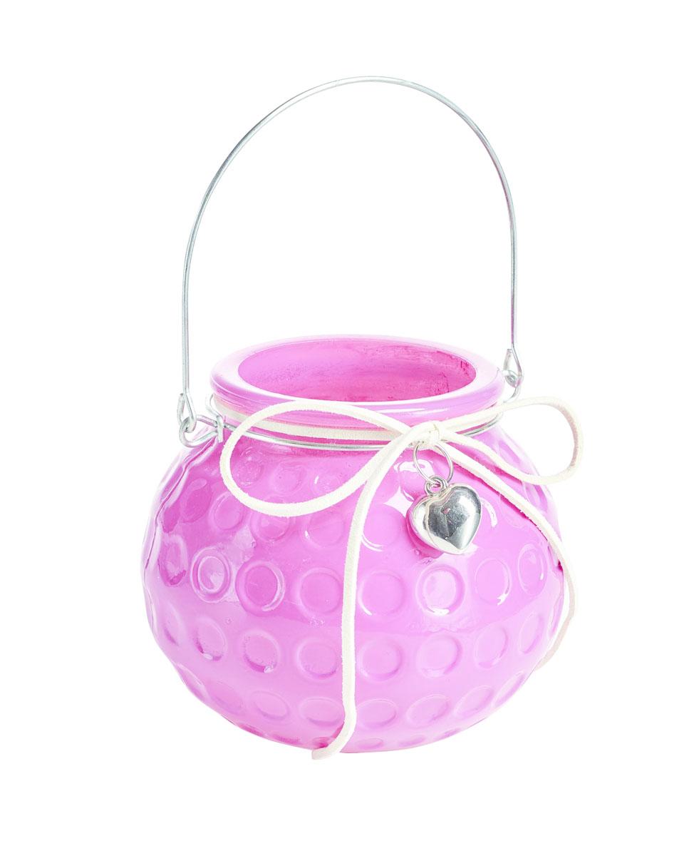 Подсвечник подвесной Gardman Honey Pot, цвет: розовый, 8,5 см17445Декоративный подсвечник Gardman Honey Pot, изготовленный из высококачественного стекла, позволит украсить интерьер дома или рабочего кабинета оригинальным образом. Вы можете поставить или подвесить подсвечник в любом месте, где он будет удачно смотреться и радовать глаз. Кроме того - это отличный вариант подарка для ваших близких и друзей.