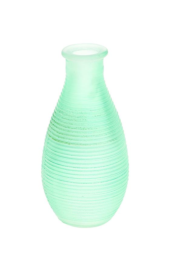 Ваза Gardman Mini, цвет: светло-зеленый, высота 14 см17622Изящная ваза Gardman Mini, изготовленная из стекла с металлической фольгой внутри, имеет оригинальную форму. Она идеально дополнит интерьер офиса или дома и станет желанным и стильным подарком. Высота вазы: 14 см.