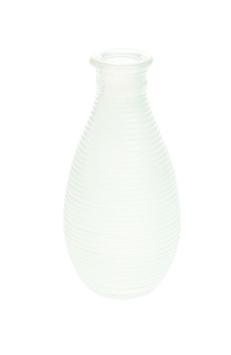 Ваза Gardman Mini, цвет: белый, высота 14 смFS-91909Изящная ваза Gardman Mini, изготовленная из стекла с металлической фольгой внутри, имеет оригинальную форму. Она идеально дополнит интерьер офиса или дома и станет желанным и стильным подарком.Высота вазы: 14 см.