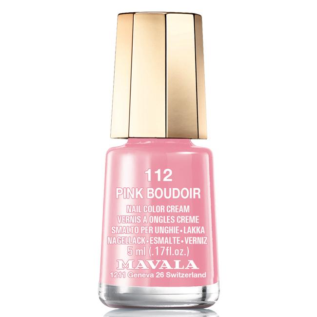 Mavala Лак для ногтей Розовый будуар/Pink Boudoir, Тон 112, 5 мл08-1458Лаки для ногтей Mavala представлены классическими и ультрамодными оттенками. Они пропускают воздух даже через 3-4 слоя, давая возможность ногтям дышать. Специально разработанный состав лаков позволяет им оставаться свежими и насыщенными долгое время. Лаки не содержат толуол, формальдегид, камфору, дибутил фталат, канифоль и добавленный никель.