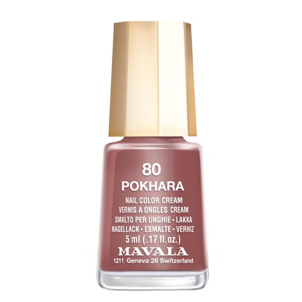 Mavala Лак для ногтей Pokhara, Тон 80, 5 мл08-1535Лаки для ногтей Mavala представлены классическими и ультрамодными оттенками. Они пропускают воздух даже через 3-4 слоя, давая возможность ногтям дышать. Специально разработанный состав лаков позволяет им оставаться свежими и насыщенными долгое время. Лаки не содержат толуол, формальдегид, камфору, дибутил фталат, канифоль и добавленный никель.
