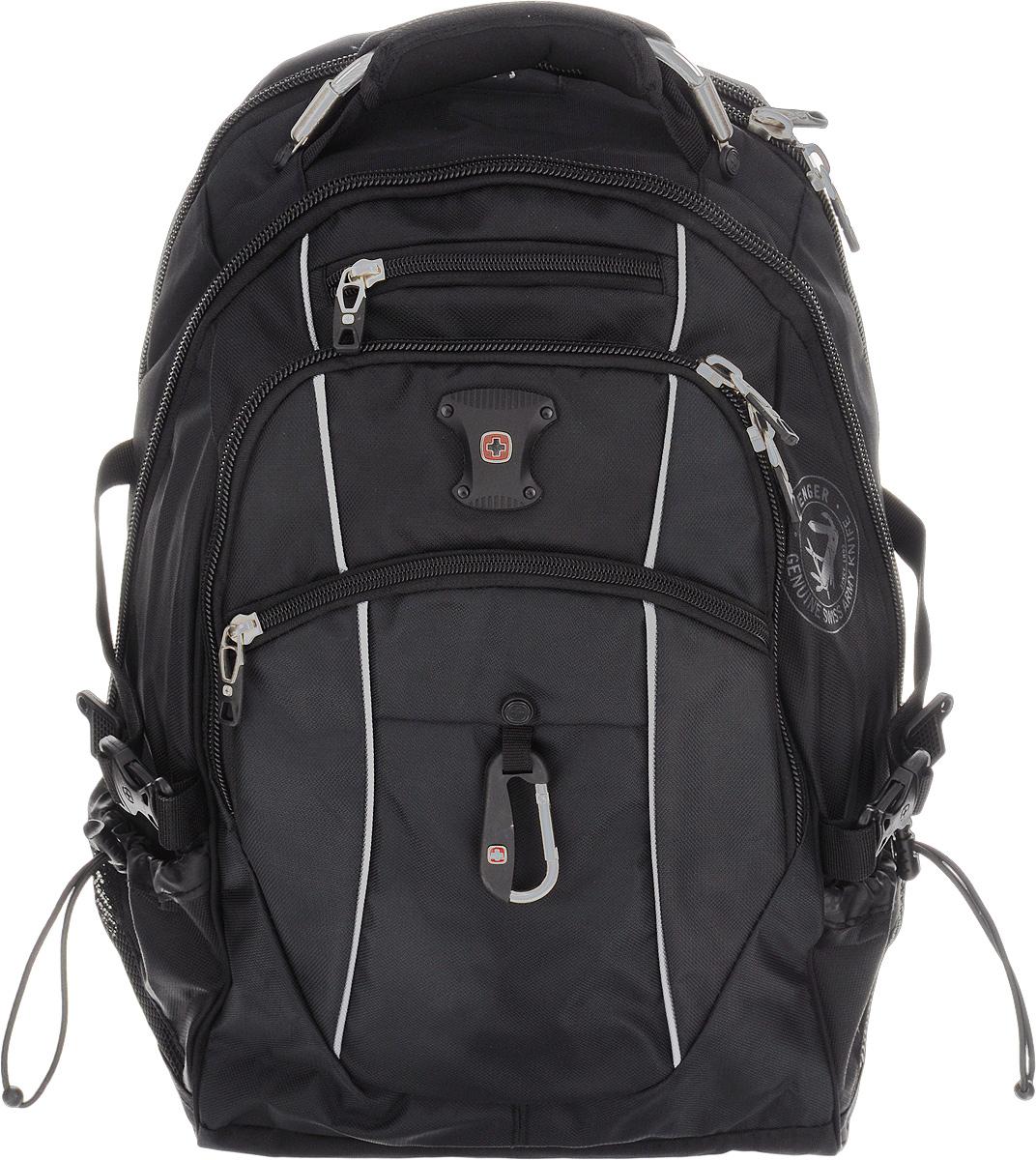 Рюкзак Wenger, цвет: черный, серый, 35 см х 23 см х 48 см, 39 л22-0570 SРюкзак Wenger - это самодостаточный, многофункциональный и надежный спутник своего владельца, как и знаменитый швейцарский нож! Благодаря многофункциональности рюкзака, вы можете легко организовать свои вещи, отправив ключи, мобильный телефон и еще тысячу мелочей. Рюкзаки и сумки Wenger - это прежде всего современные материалы и фурнитура от надежных поставщиков и швейцарский контроль качества, благодаря которому репутация компании была и остается столь высокой. Продуманная конструкция и современные технологии проявляются главным образом в потрясающей надежности рюкзаков и сумок Wenger. А ведь надежность - самое важное качество и в амуниции, и в людях! Особенности рюкзака:Отделение подходит для большинства ноутбуков с диагональю экрана 15 дюймов.Внутренний карман для МР3-плеера с внешним выходом для наушников.Эргономичные плечевые ремни анатомической формы с пропускающей воздух набивной подкладкой для комфортного ношения рюкзака. Система циркуляции воздуха AIRFLOW для обеспечения максимального комфорта и поддержки спины.Эластичная петля на плечевом ремне позволяет хранить и легко извлекать солнцезащитные очки.Карман из эластичной растягивающейся сетки на плечевом ремне подходит для безопасного хранения большинства мобильных устройств. Удобное расположение обеспечивает быстрый доступ к телефону.Внешние карманы из эластичной сетки подходят для хранения бутылок любого размера.Внутренний карман-органайзер включает в себя съемную ключницу и многочисленные раздельные кармашки для пишущих принадлежностей, мобильного телефона и компакт-дисков.По всем вопросам гарантийного и постгарантийного обслуживания рюкзаков, чемоданов, спортивных и кожаных сумок, а также портмоне марок Wenger и SwissGear вы можете обратиться в сервис-центр, расположенный по адресу: г. Москва, Саввинская набережная, д.3. Тел: (495) 788-39-96, (499) 248-56-56, ежедневно с 9:00 до 21:00. Подробные условия гарантийного обслуживания при