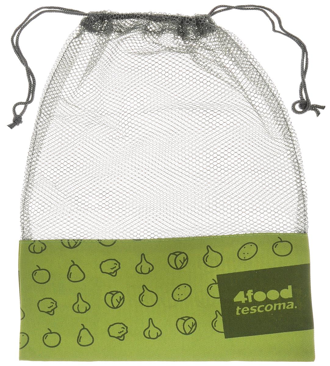 Сетка для хранения продуктов Tescoma 4Food, 38 х 28 см897184Вместительная сетка Tescoma 4Food, выполненная из непромокаемых материалов, отлично подойдет для хранения в холодильнике фруктов, овощей, орехов и других продуктов. Сетка способствует вентиляции и предотвратит образование плесени. Изделие закрывается на затягивающийся шнурок. Вместимость - 6 кг.