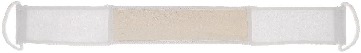 Мочалка Home Queen, из люфы, с ручками, цвет: белый, 90 х 8 см50839_белыйМочалка Home Queen, изготовленная из люфы, прекрасно очищает и массирует кожу, улучшает циркуляцию крови и обмен веществ. Обладает эффектом скраба - мягко отшелушивает верхний слой эпидермиса, стимулируя рост новых, молодых клеток, делает кожу здоровой и красивой. Изделие оснащено двумя ручками для более удобного использования. Подходит для ежедневного использования.