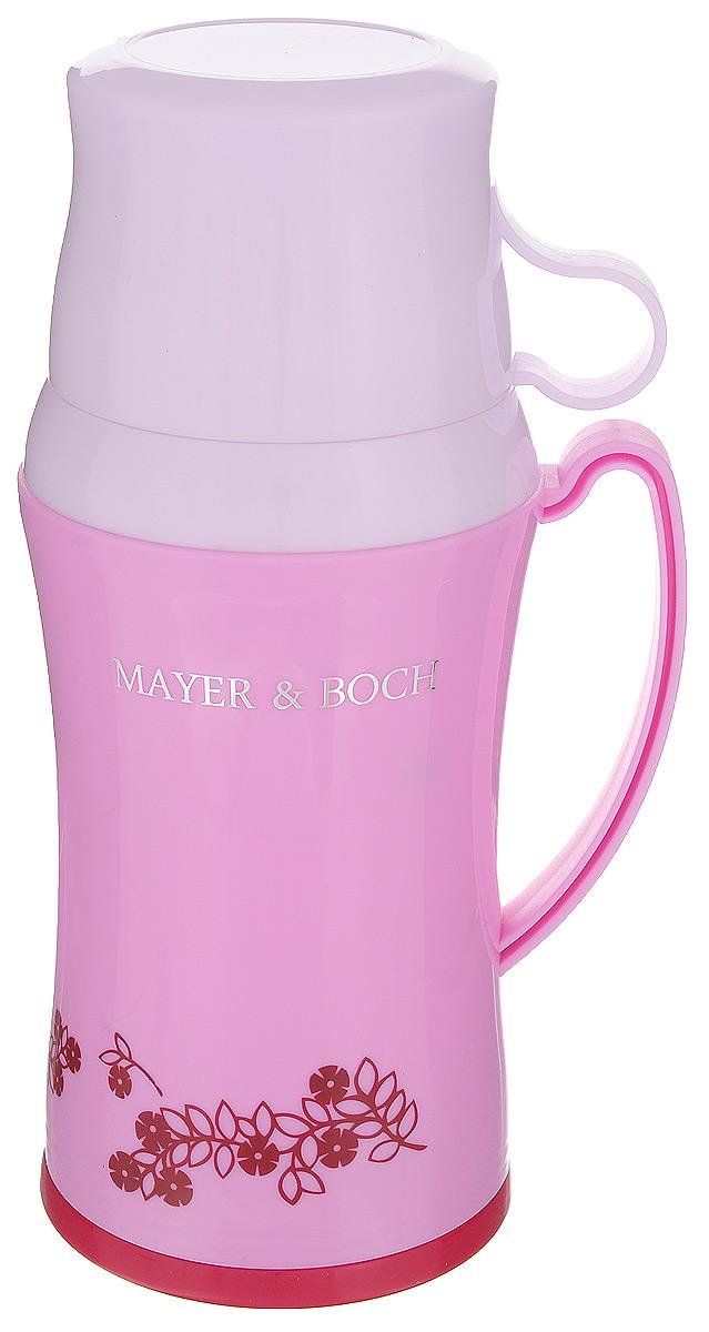 Термос Mayer & Boch, с двумя чашками, цвет: сиреневый, 600 мл22599_сиреневыйТермос Mayer & Boch со стеклянной колбой в пластиковом корпусе является одним из востребованных в России. Его температурная характеристика ни в чем не уступает термосам со стальными колбами, но благодаря свойствам стекла этот термос может быть использован для заваривания напитков с устойчивыми ароматами. В комплекте с термосом - две чашки разных размеров. Завинчивающаяся герметичная крышка предохранит от проливаний. Этот термос станет не только надежным другом в походе, но и отличным украшением вашей кухни. Общий размер термоса: 13,5 х 10,5 х 25,2 см. Размер большой чашки (без учета ручки): 9 х 9 х 6,5 см. Размер маленькой чашки: 8,5 х 8,5 х 5 см.