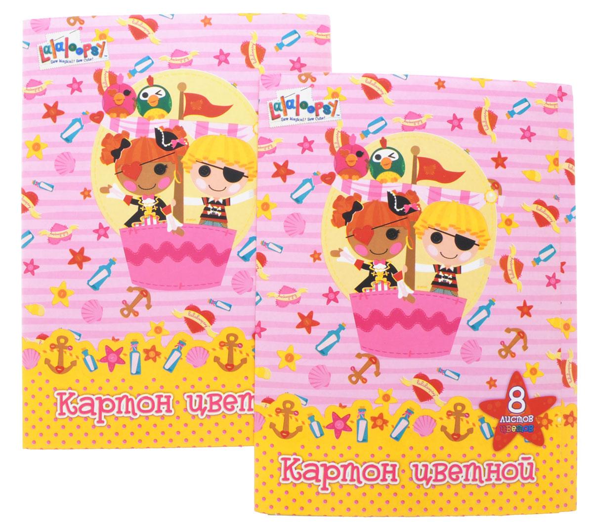 Action! Набор цветного картона Lalaloopsy 8 листов цвет розовый 2 шт LL-CC-8/8