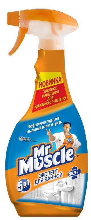 Чистящее и моющее средство для ванной Mr. Muscle Эксперт, 500 мл665223Чистящее и моющее средство Mr. Muscle Эксперт без усилий очищает керамические, пластиковые, хромированные, нержавеющие и стеклянные поверхности. Раковина, ванная, плитка и стеклянные предметы в вашей ванной будут сиять чистотой. Удаляет известковый налет, удаляет ржавчину, убивает микробы, не оставляет разводов, удаляет грязь. Состав: вода, молочная кислота, н-ПАВ, органический растворитель, а-ПАВ, отдушка. Товар сертифицирован.