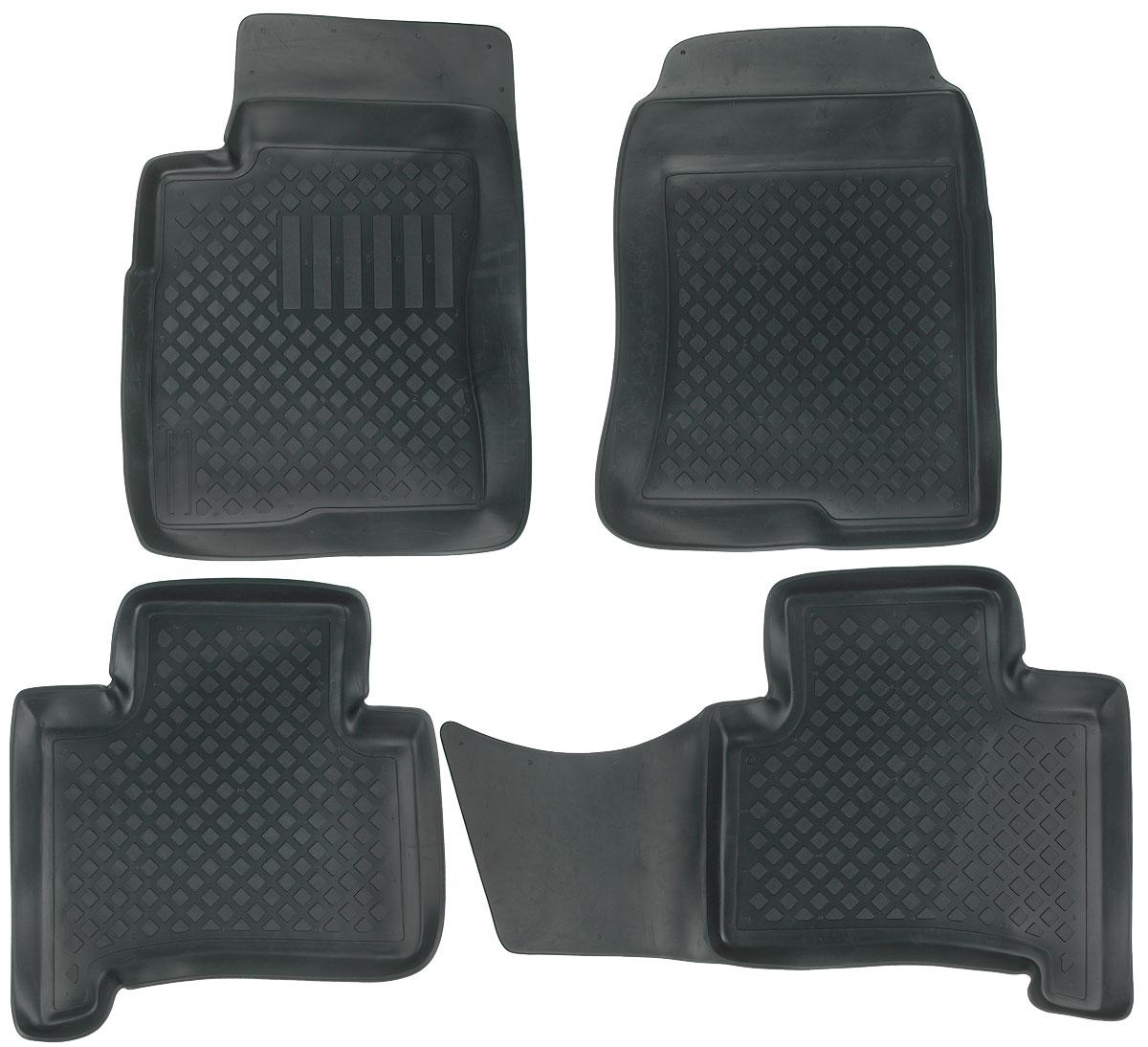 Набор автомобильных ковриков L.Locker, для Toyota Land Cruiser Prado (02-), в салон, 4 шт0209060301Набор L.Locker, изготовленный из полиуретана, состоит из 4 антискользящих 3D ковриков, которые производятся индивидуально для каждой модели автомобиля. Изделие точно повторяет геометрию пола автомобиля, имеет высокий борт, обладает повышенной износоустойчивостью, лишено резкого запаха и сохраняет свои потребительские свойства в широком диапазоне температур от -50°С до +50°С. Комплектация: 4 шт. Размер ковриков: 75 см х 56 см; 95 см х 54 см; 59 см х 64 см; 72 см х 54 см.