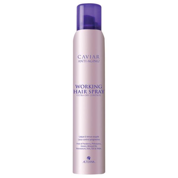 Alterna Лак подвижной фиксации Caviar Anti-Aging Working Hair Spray 211 г60454Ультра сухой лак для волос с экстрактом черной икры Alterna Caviar Anti-Aging Working Hair Spray работает на клеточном уровне, увеличивая упругость и эластичность Ваших волос. Он восстанавливает оптимальный баланс увлажнения волос и делает их послушными. Аэрозольный ультра сухой лак помогает минимизировать видимые повреждения волос, произошедшие по причине воздействия солнечного излучения, окружающей среды, экологических и химических факторов. Результат: Ультра сухой лак для волос с экстрактом черной икры обладает влагостойкими свойствами, обеспечивает прогрессивный контроль над волосами и помогает создать нежную укладку для волос. Гарантирует волосам идеальную расчесываемость.