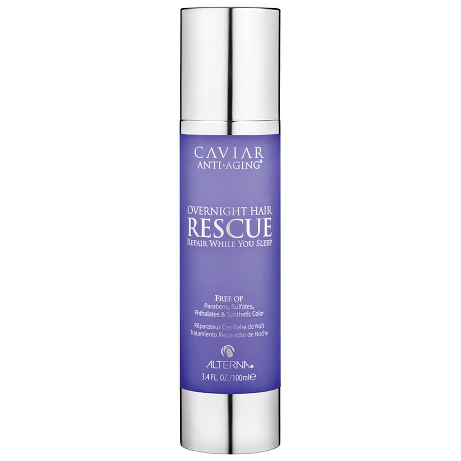 Alterna Активная ночная восстанавливающая эмульсия Caviar Anti-Aging Overnight Hair Rescue - 100 млБ33041_шампунь-барбарис и липа, скраб -черная смородинаВо время сна, концентрат Alterna Caviar Anti-Aging Overnight Hair Rescue восстанавливает и наполняет силой, витаминами и питательными элементами поврежденные и ослабленные волосы. Продукт моментально впитывается в волосы и не оставляет жирных следов на постельном белье. Быстрый эффект от использования концентрата совмещает в себе и накопительный эффект (регулярное использование помогает добиться потрясающих результатов). В состав концентрата входят микроскопические природные белки и аминокислоты, которые проникают вглубь волос, восстанавливая их изнутри. Результат: Биоидентичные липиды восстанавливают блеск, упругость и эластичность волос, а положительно заряженные ионы придают волосам мягкость. Не нарушает оттенки окрашенных волос.