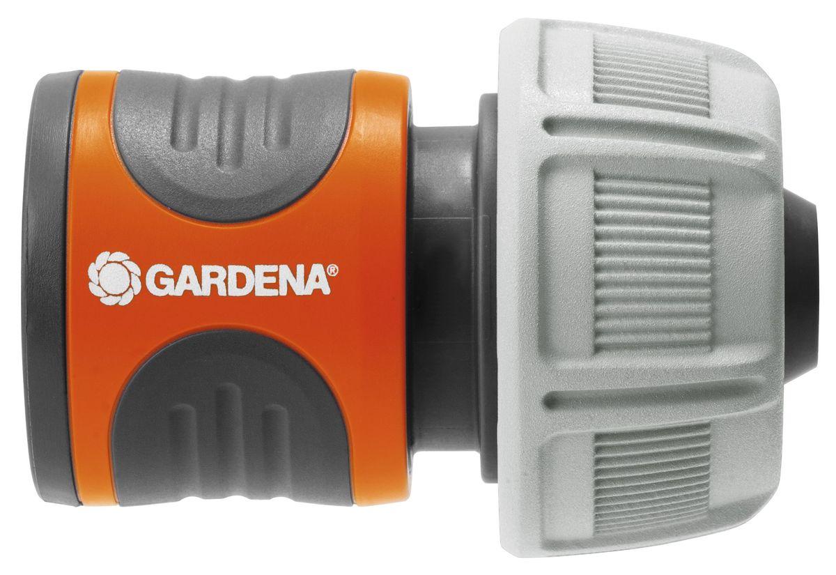 Коннектор стандартный Gardena, 19 мм (3/4)18216-29.000.00Коннектор стандартный Gardena легко снимается, если его потянуть на себя. Поверхность из мягкого рифленого пластика коннектора позволяет удобно и крепко удерживать инструмент в руке. Коннектор снабжен резиновым кольцом, обеспечивающим защиту от повреждений. Новая форма зажимной гайки позволяет прочно зафиксировать коннектор со шлангом. Коннектор предназначен для шлангов диаметром 19 мм (3/4).