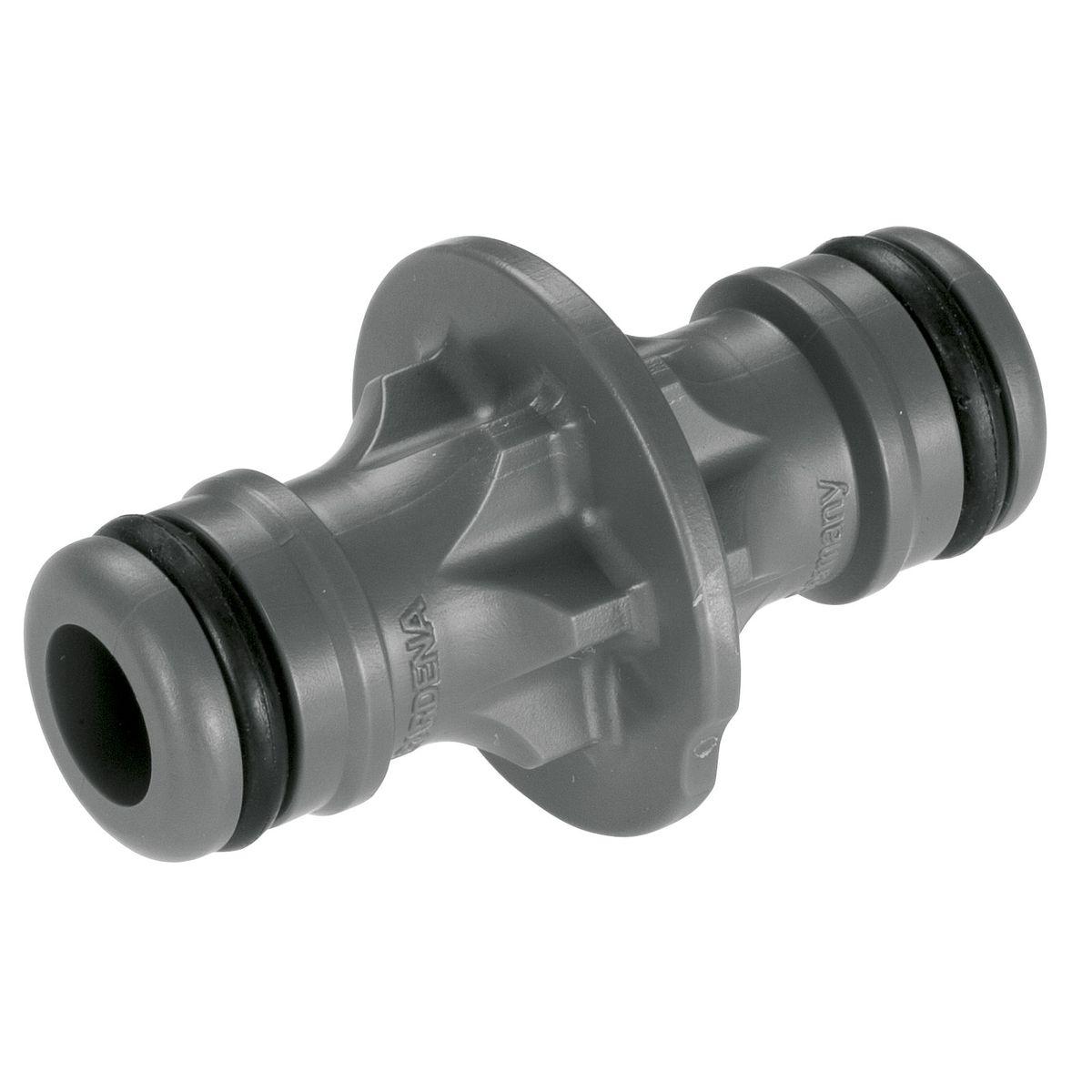 """Переходник Gardena02931-29.000.00Переходник Gardena предназначен для наращивания шланга, для соединения шлангов или для перехода со шлангов диаметром 19 мм (3/4"""") на 13 мм (1/2"""")."""