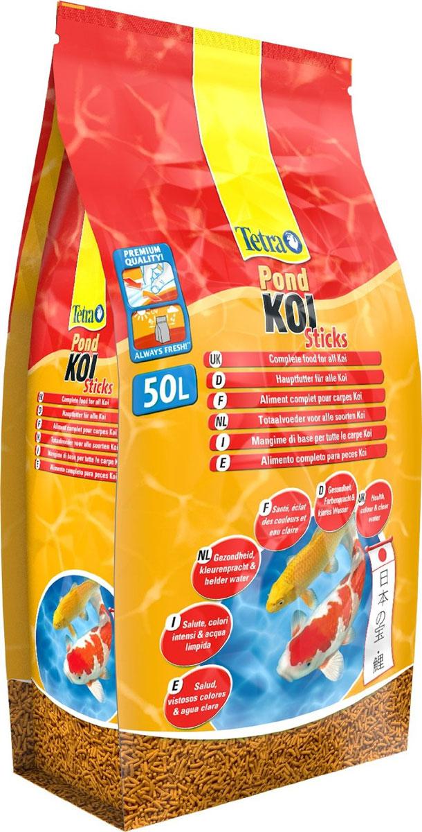 Корм сухой Tetra Pond. Koi Sticks для прудовых рыб, палочки, 50 л (7,5 кг)241626Сухой корм Tetra Pond. Koi Sticks - это основная кормовая смесь для здорового, полноценного питания требовательных карпов Кои. Благодаря высококачественным каротиноидам корм усиливает естественные цвета рыб. Запатентованная BioActive формула обеспечивает высокую устойчивость к заболеваниям, придает энегрию и жизнеспособность. Корм содержит все необходимые элементы, витамины и микроэлементы для предотвращения симптомов недостаточности, связанных с питанием. Легкий прием и высокая перевариваемость уменьшает степень загрязнения воды и улучшает ее качество. Кормите не менее 2 - 3 раз в день в таком количестве, которые рыбы могут съесть в течение нескольких минут. Состав: растительные продукты, зерновые культуры, экстракты растительного белка, рыба и побочные рыбные продукты, минеральные вещества, масла и жиры, дрожжи. Пищевая ценность: сырой белок - 31%, сырые масла и жиры - 5%, сырая клетчатка - 2%, влага - 7%. Добавки:...