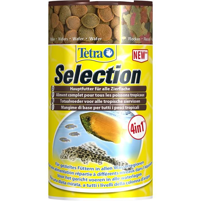 Корм Tetra Selection для всех видов тропических рыб, 250 мл (95 г) корм для рыб аква меню флора 2 с растительными добавками для рыб средних размеров 30 г