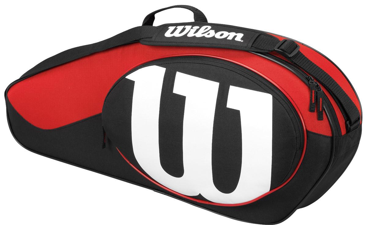 Сумка Wilson Match Ii 3Pk Bag BkrdWRZ820603Специализированная теннисная сумка на 3 ракетки.