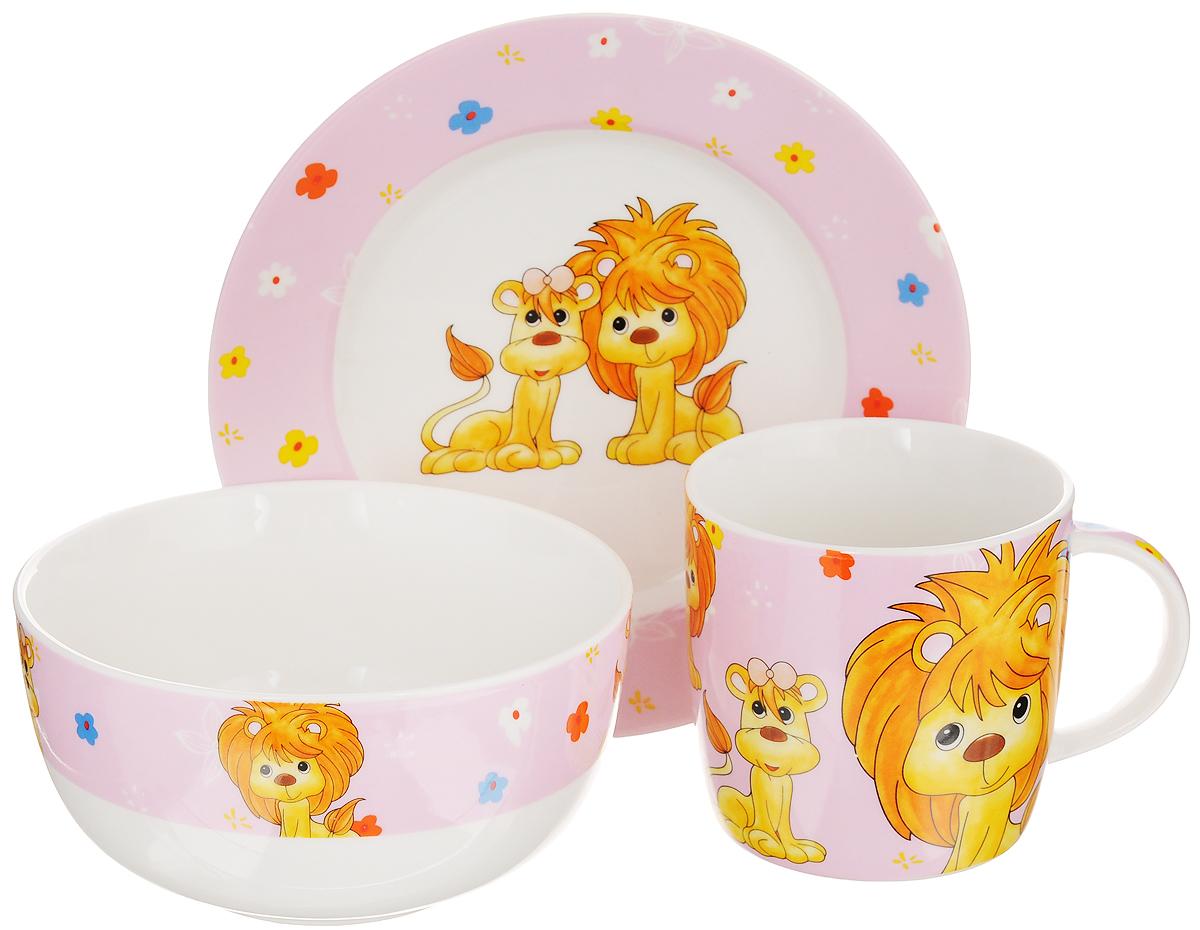 Набор детской посуды Elan Gallery Львята на розовом, 3 предмета290137Набор детской посуды Elan Gallery Львята на розовом, выполненный из высококачественной керамики, состоит из кружки, десертной тарелки и миски. Материалы изделий нетоксичны и безопасны для детского здоровья. Изделия оформлены ярким изображением львят. Детская посуда удобна и увлекательна для вашего малыша. Привычная еда станет более вкусной и приятной, если процесс кормления сопровождать игрой и сказками. Красочная посуда является залогом хорошего настроения и аппетита ваших детей, а также станет желанным подарком. Диаметр десертной тарелки: 17 см. Высота десертной тарелки: 2 см. Объем миски: 500 мл. Диаметр миски: 13 см. Высота миски: 6,5 см. Объем кружки: 250 мл. Диаметр кружки (по верхнему краю): 8,2 см. Высота кружки: 8 см.