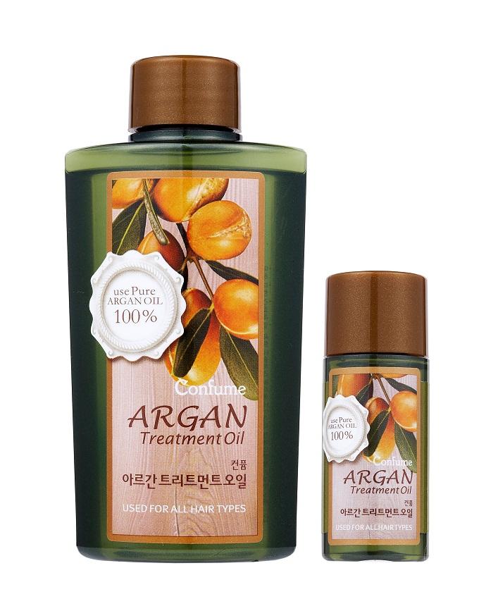 Confume Argan Набор Аргановое масло, 120 мл + масло, 20 мл8803348011170Ценное масло арганы на 80% состоит из ненасыщенных жирных кислот, которые являются незаменимыми элементами питания для волос и кожи. Также масло содержит высокую концентрацию натуральных антиоксидантов – полифенолов и токоферолов, обеспечивающих защиту от повреждающего действия свободных радикалов. Благодаря такому составу аргановое масло обладает комплексным восстанавливающим и ухаживающим свойством, предотвращает сухость кожи, оказывает омолаживающее действие, повышает эластичность и упругость. Содержит высокую концентрацию натуральных антиоксидантов – полифенолов и токоферолов, обеспечивающих защиту от повреждающего действия свободных радикалов.
