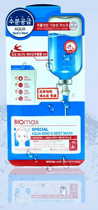 BioMax Увлажняющая маска с экстрактом ласточкиного гнезда Special, 25 г8803348024781Маска-салфетка из целлюлозы является гипоаллергенным средством, она плотно прилегает к коже и способствует лучшему проникновению полезных компонентов. Экстракт ласточкиного гнезда – источник минералов, полисахаридов и антиоксидантов. Он также богат аминокислотами, которые увеличивают эластичность кожи. Экстракт ласточкиного гнезда повышает кожный иммунитет и сопротивляемость негативному воздействию УФ излучения. Маска регулирует водно-жировой баланс кожи лица, интенсивно увлажняет и создает на коже барьер, препятствующий потере влаги. Экстракт ласточкиного гнезда – источник минералов, полисахаридов и антиоксидантов. Он также богат аминокислотами, которые увеличивают эластичность кожи.