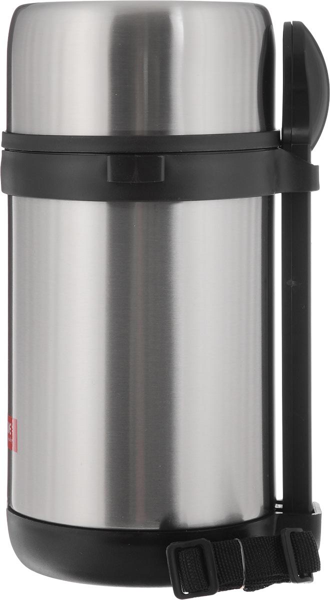 Термос для пищи Calve, с контейнерами, 1,5 лCL-1713Термос для пищи Calve изготовлен из высококачественной нержавеющей стали. Термос герметичный, что позволяет надолго сохранять пищу горячей. Три прозрачных пластиковых контейнера компактно помещаются внутрь и позволяют хранить различные блюда. Верхняя крышка с внутренней пластиковой отделкой также может использоваться как миска для еды. В комплекте также предусмотрена ложка из нержавеющей стали 18/8, она хранится в специальном футляре, который удобно закрепляется с внешней стороны термоса. Текстильный ремешок предназначен для комфортной переноски. Термос для пищи Calve обязательно пригодится в походе, путешествии или на пикнике. Изделие можно мыть в посудомоечной машине. Диаметр термоса (по верхнему краю): 11,5 см. Высота термоса: 26 см. Длина ложки: 18,5 см. Диаметр контейнеров: 11 см. Высота контейнеров: 5,5 см; 9,5 см.