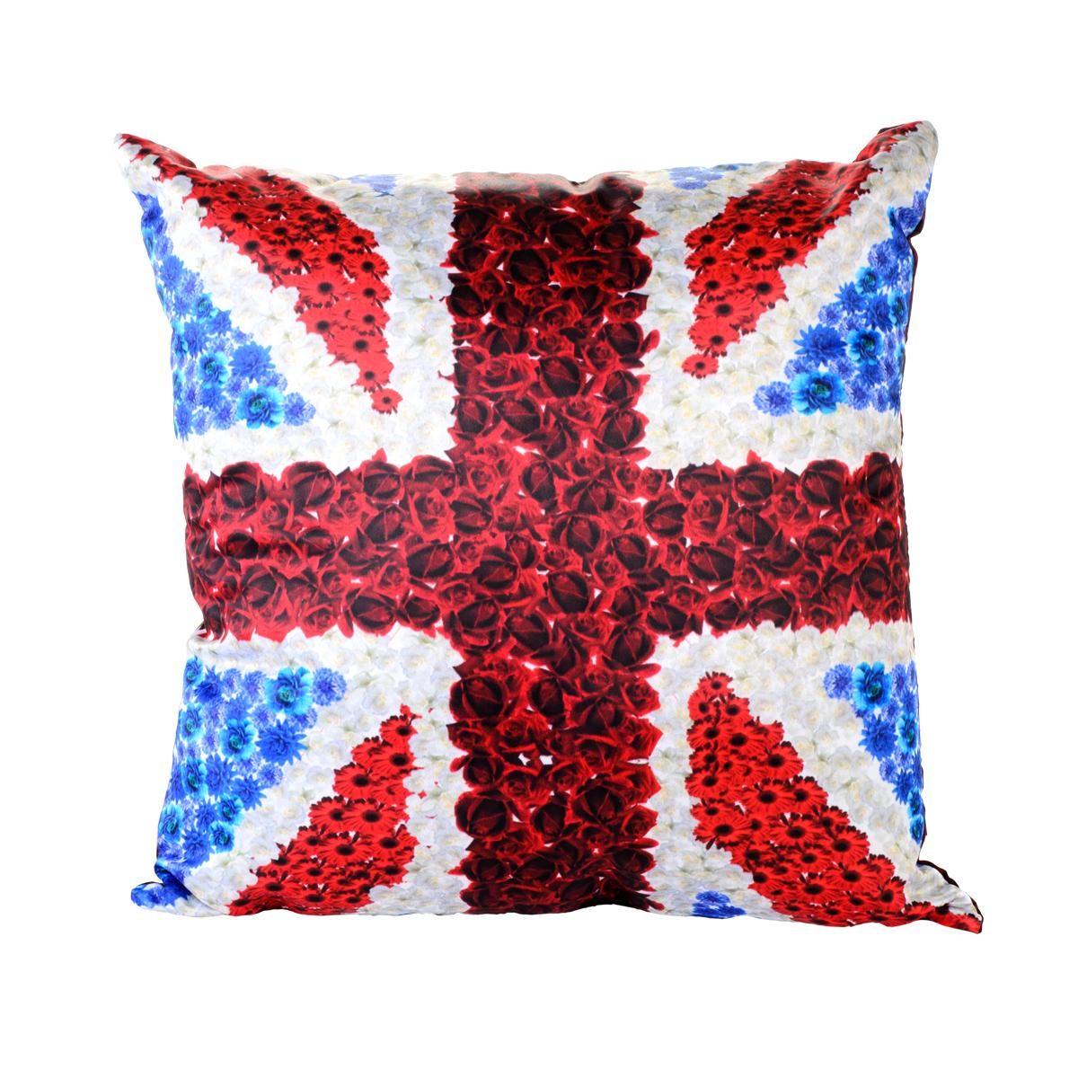 Подушка декоративная GiftnHome  Британский Флаг, 35 x 35 смPLW- 35 БритФлагПодушка декоративная Британский Флаг 35x35 см. Наволочка 100% п/э атлас