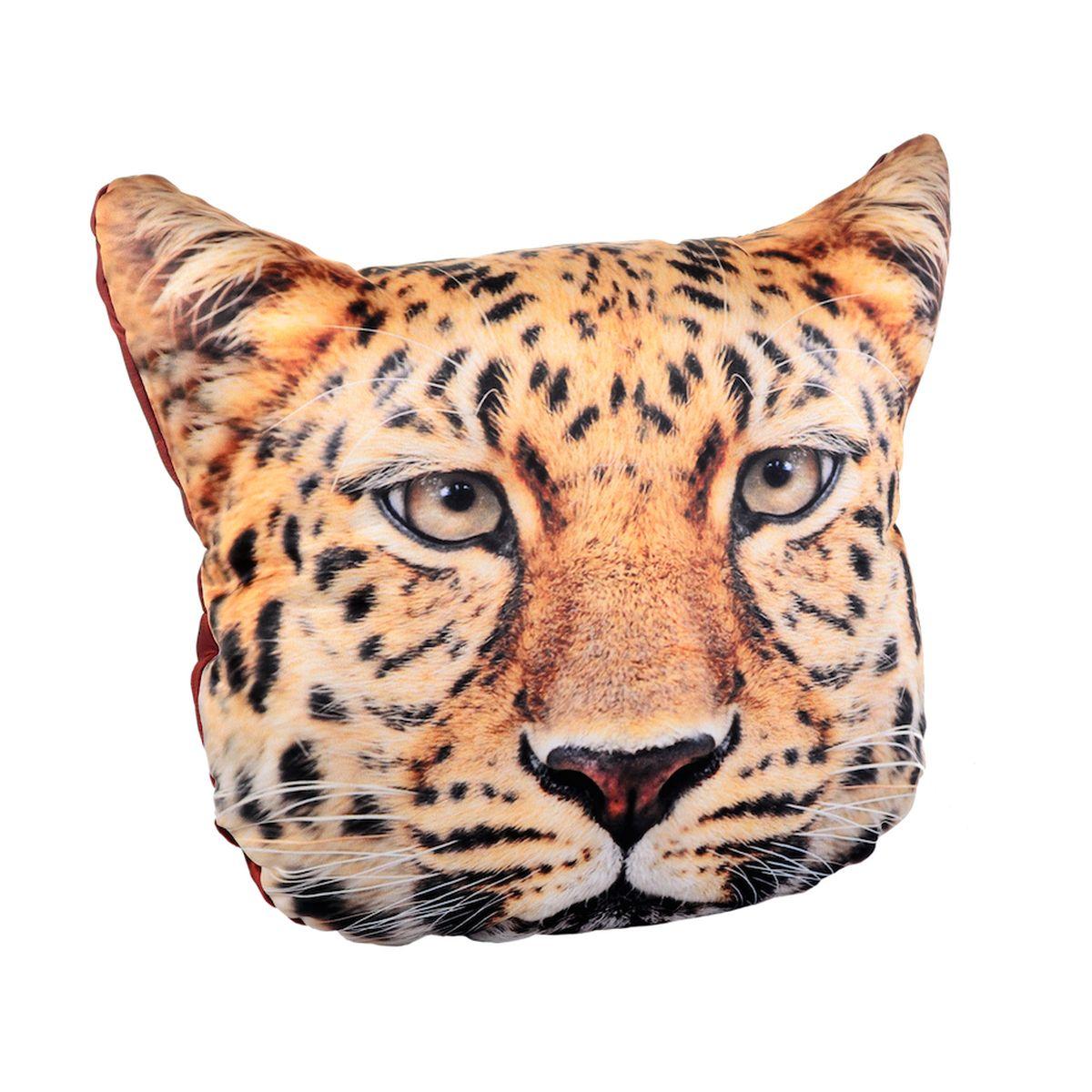 Подушка декоративная GiftnHome Леопард, 40 x 40 смPLW-Face ЛеопардПодушка декоративная GiftnHome, выполненная в виде морды леопарда, прекрасно дополнит интерьер спальни или гостиной. Чехол подушки изготовлен из атласа (искусственный шелк). В качестве наполнителя используется мягкий холлофайбер. Чехол снабжен потайной застежкой-молнией, благодаря чему его легко можно снять и постирать. Красивая подушка создаст атмосферу уюта в доме и станет прекрасным элементом декора.