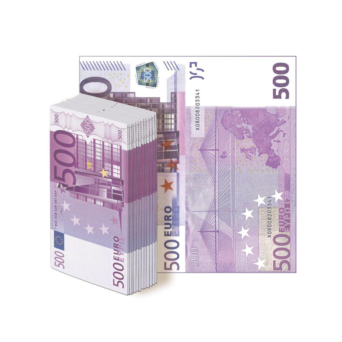 Салфетки бумажные Gratias 500 евро , трехслойные, 33 см91622