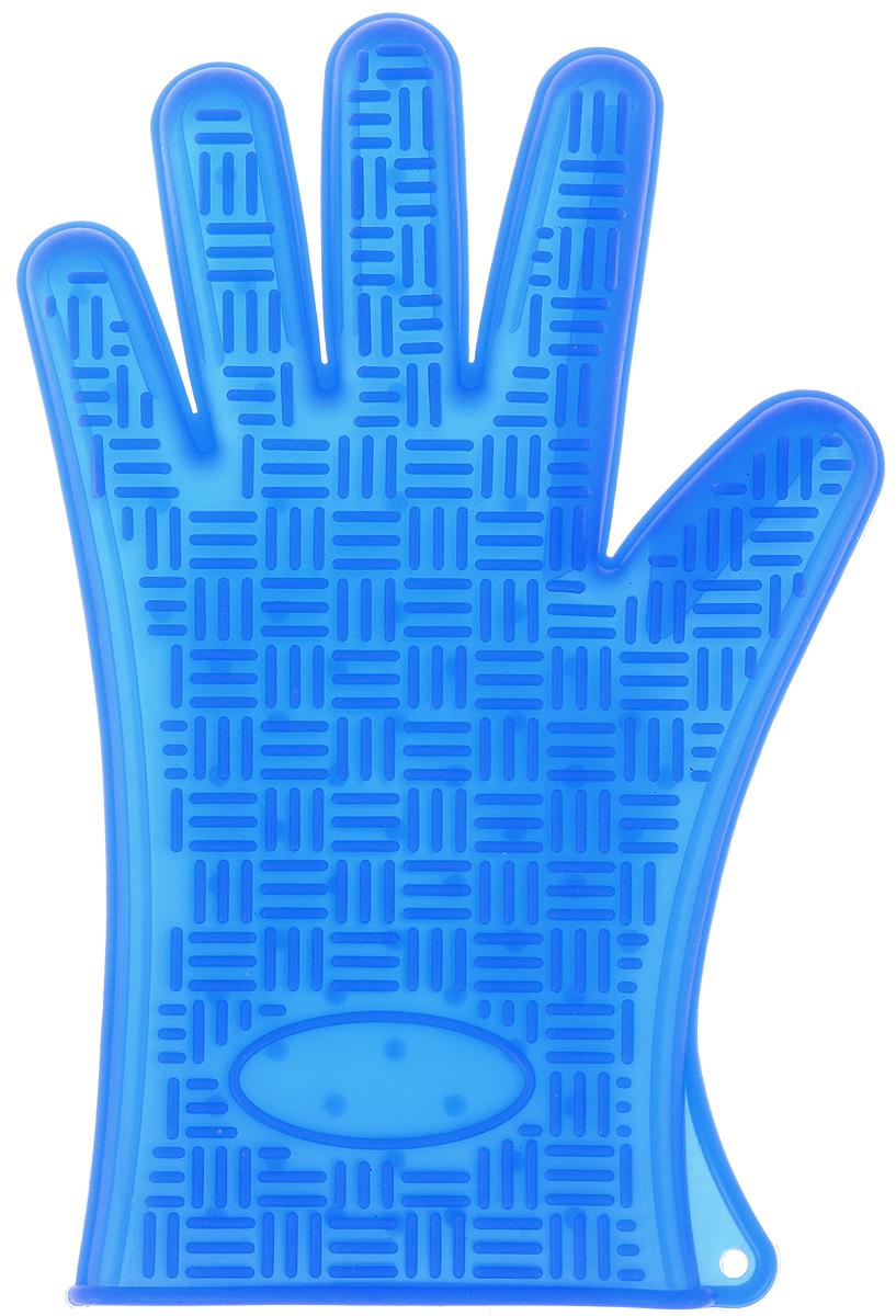 Прихватка-перчатка Mayer & Boch, силиконовая, цвет: синий, 27 х 18 см4427-3Прихватка-перчатка Mayer & Boch изготовлена из прочного цветного силикона. Она способна выдерживать температуру от -40°C до +220°С. Эластична, износостойка, влагонепроницаема, легко моется, удобно и прочно сидит на руке. С помощью такой прихватки ваши руки будут защищены от ожогов, когда вы будете ставить в печь или доставать из нее выпечку. Можно мыть в посудомоечной машине.