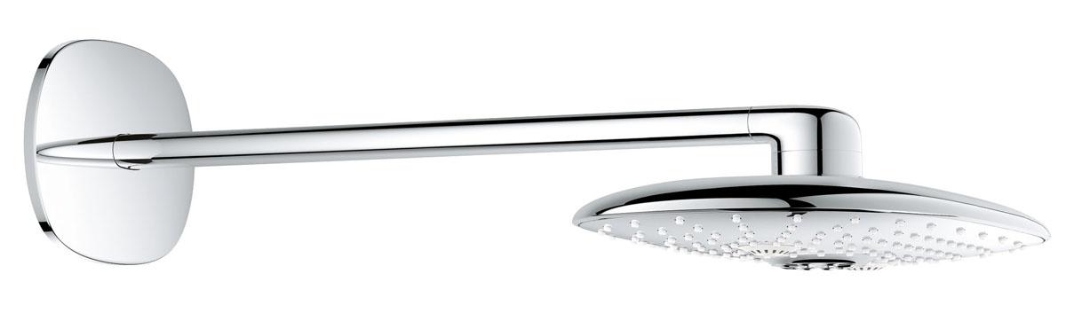 Верхний душ с кронштейном GROHE Rainshower SMARTCONTROL 300 мм (26254000)26254000Верхний металлический душ — важнейший элемент душевой системы, обладает впечатляющими размерами и может похвастаться несколькими разнообразными режимами струи Для использования с арт. 26264000