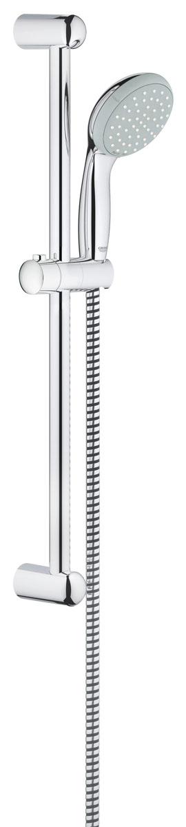 Душевой гарнитур Grohe Tempesta Classic, с ограничением расхода воды2759800EДушевой комплект Grohe воплощает в себе стильную простоту и комфорт в использовании. Комплект состоит из ручного душа, душевой штанги (600 мм) и шланга (1750 мм), изготовленных из высококачественной латуни. Хромированное покрытие StarLight придает изделию яркий металлический блеск и эстетичный внешний вид. Душевой комплект Grohe удобен и практичен в работе. Особенности: - превосходный поток воды; - система SpeedClean против известковых отложений; - внутренний охлаждающий канал для продолжительного срока службы; - twistfree против перекручивания шланга; - технология совершенного потока при уменьшенном расходе воды; - силиконовое кольцо, предотвращающее повреждение поверхности при падении ручного душа. Может использоваться с проточным водонагревателем.