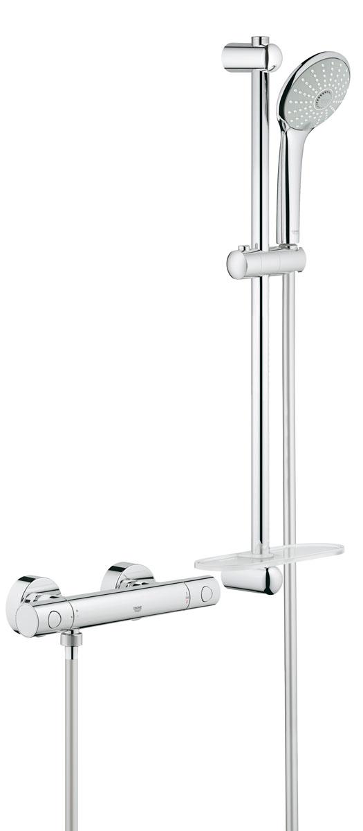 Термостат для душа GROHE Grohtherm 1000 Cosmopolitan New с душевым гарнитуром (штанга 600 мм) (34286002)