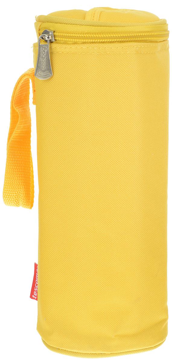 Сумка-холодильник Tescoma Coolbag, цвет: желтый, 10,5 х 10,5 х 25 см892312_желтыйСумка-холодильник Tescoma Coolbag, изготовленная из прочного полиэстера и полипропиленовой фольгированной пленки, предназначена для сохранения температуры напитков. Сумка-холодильник имеет одно вместительное отделение. Благодаря отверстию для горлышка, емкость можно открыть в любое время, не доставая ее из сумки. Изделие идеально подходит для ПЭТ бутылок объемом 0,75-1 литра. Внутри сумки расположена теплоизолирующая подкладка из алюминиевой фольги. Сумка закрывается на молнию и имеет регулируемый ремень для удобной переноски. Она прекрасно подходит для походов на пляж, пикников и поездок за город. С такой сумкой напитки дольше остаются охлажденными. Рекомендуется чистить влажным полотенцем. Нельзя мыть в посудомоечной машине, не стирать.