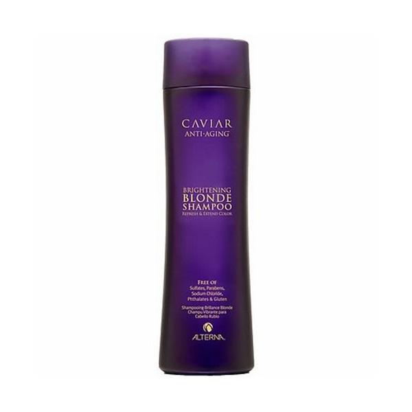 Alterna Шампунь c морским шелком для cветлых волос Caviar Anti-Aging Seasilk Blonde Shampoo - 250 млFS-00103В состав продукта входят экстракты водорослей и черной икры, которые обеспечивают надежную защиту цвета и препятствуют процессам старения. Шампунь для светлых волос Альтерна содержит витамины и минералы, которые насыщают волосы здоровьем и силой.Результат: После применения шампуня волосы становятся эластичными и шелковистыми, они легко расчесываются и блестят.