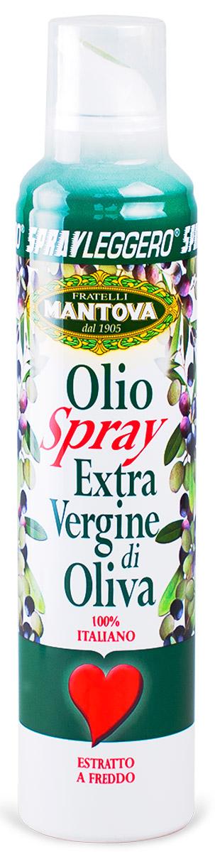 Fratelli Mantova Extra Virgin оливковое масло спрей, 250 млBF.001.SLOОливковое масло холодного отжима (Эктра Верджине). Масло упаковано в баллончик под давлением, которым легко пользоваться. В зависимости от силы надавливания, есть три вида распыления: капли, струя, разбрызгивание.