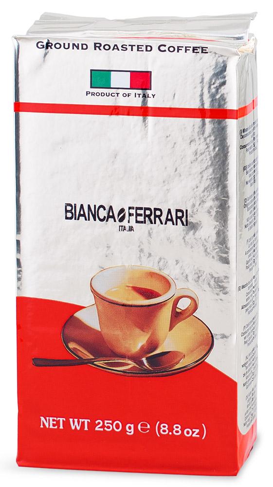 Bianca Ferrari Граундкофе Интенсо кофе молотый, 250 г0120710Bianca Ferrari Граундкофе Интенсо - натуральный молотый кофе для приготовления изысканного напитка как в турке, так и в кофемашинах и кофеварках. Послевкусие - плотное и долгоиграющее. При заваривании получается насыщенный напиток, обладающий устойчивой пенкой.