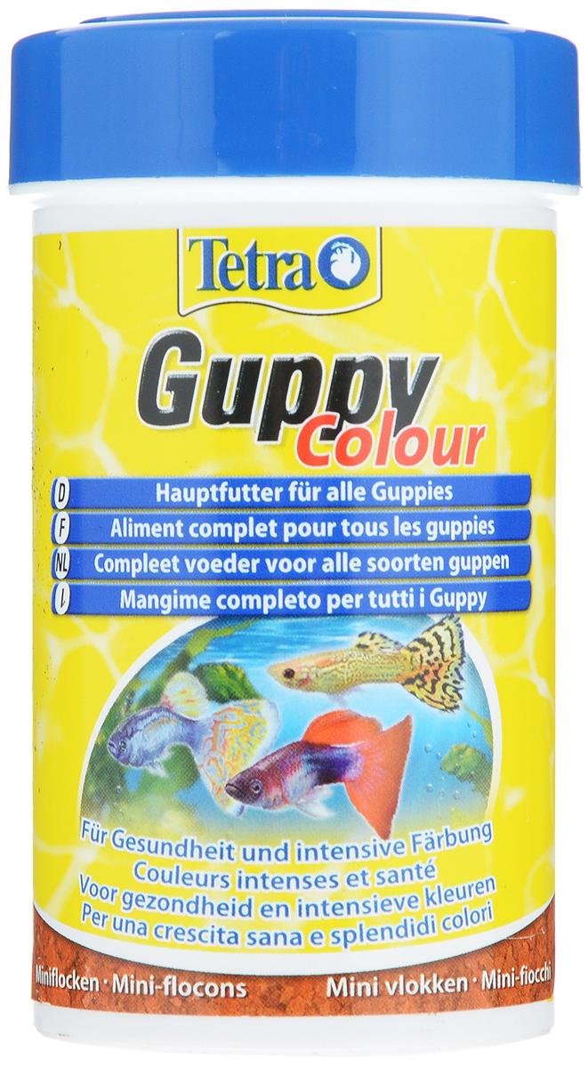 Корм для гуппи Tetra Guppy Colour, мини-хлопья, 100 мл (30 г)197275Корм Tetra Guppy Colour - сбалансированный корм в виде хлопьев для всех видов гуппи и иных живородящих рыб. Высокое содержание натуральных усилителей окраса для более ярких цветов (каротиноиды, полученные из некоторых видов растений и ракообразных). Высокое содержание растительных ингредиентов (экстракты спирулины и водоросли гарнелии) и минералов для улучшения вкусовых качеств и роста. Ежедневное употребление питательного состава способствует усилению окраса, улучшению иммунитета и развитию организма. Кормить несколько раз в день маленькими порциями. Товар сертифицирован.