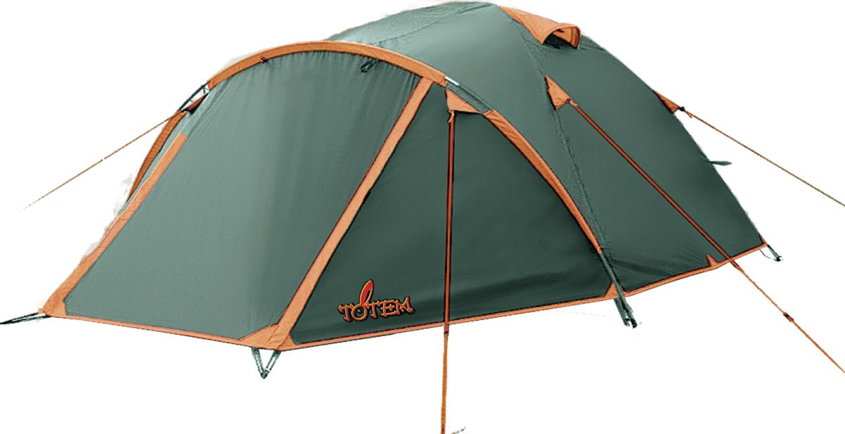 Палатка Chinook Тотеm 4, цвет: зеленый.TTT-004.09TTT-004.09Палатка Totem Chinook зеленого цвета. Особенности: Двухслойная палатка Вход спального отделения продублирован москитной сеткой Увеличенный тамбур, два вентиляционных клапана Все швы проклеены Идеальна для несложных походов в весеннее, летнее и осеннее время Размер: 250 х 330 см Количество мест: 4 Количество входов: 1 Полный вес: 3,2 кг Количество тамбуров: 1 Размер спального места: 210 х 240 см Размер тамбура: 120 см Высота: 140 см Тент: 100% полиэстер 75D/190T WR PU 1500 мм в ст Внутренняя палатка: 100% дышащий полиэстер 68D/68D 190T Каркас: фибергласс 7,9 мм Дно: Армированный полиэтилен (терпаулинг)