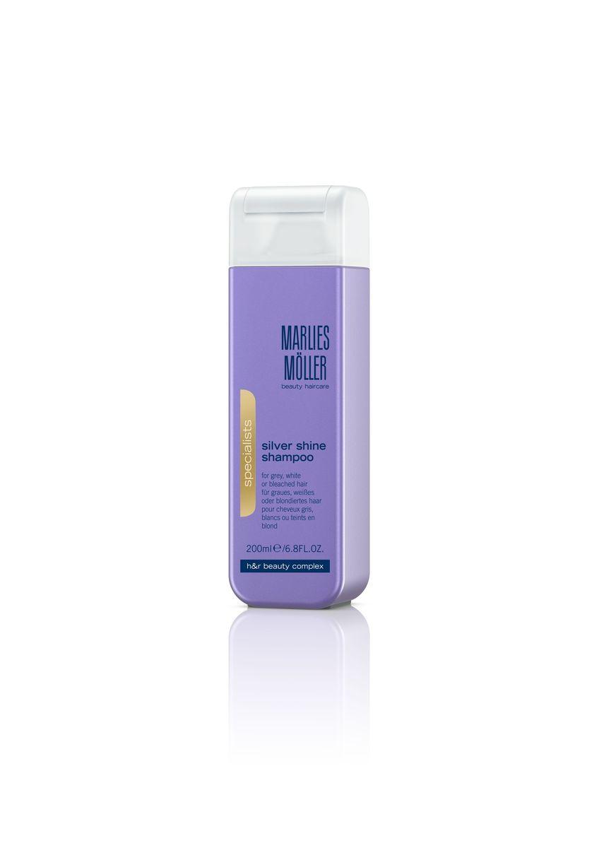 Marlies Moller Specialist Шампунь для блондинок против желтизны волос, 200 мл21047MMНатуральные и пепельные оттенки волос по-прежнему популярны в новом сезоне. Но эти цвета далеко не самые простые. Их необходимо постоянно поддерживать. Шампунь Marlies Moeller - это простое и эффективное решение для того, чтобы придать волосам изысканный, благородный оттенок. В зависимости от длины волос возьмите небольшое количество шампуня (размером с 1-2 лесных ореха) и вспеньте его в ладонях. Легкими круговыми массажными движениями нанесите шампунь, расположив одну руку спереди, другую - на затылке. Повторите массажные движения столько раз, сколько Вам нравится. Тщательно ополосните голову.