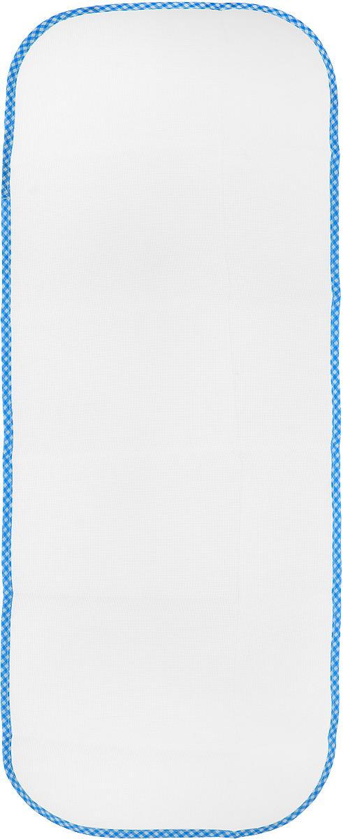 Сетка для глажения Хозяюшка Мила Silk & Wool, цвет: голубой, белый, 35 х 90 см47002_голубая клеткаСетка для глажения Хозяюшка Мила Silk & Wool выполнена из 100% лавсана. Изделие подходит для одежды из шелка, шерсти и трикотажа. Прекрасная современная альтернатива марлевой тряпочке, которую использовали наши мамы и бабушки. Аккуратная сетка с оптимальным размером плетения станет незаменимым помощником при глажке белья. Сетка защитит белье от прижигания, исключит контакт горячего утюга с тканью, позволит быстро и ровно сделать стрелки на брюках. Размер сетки: 35 х 90 см.