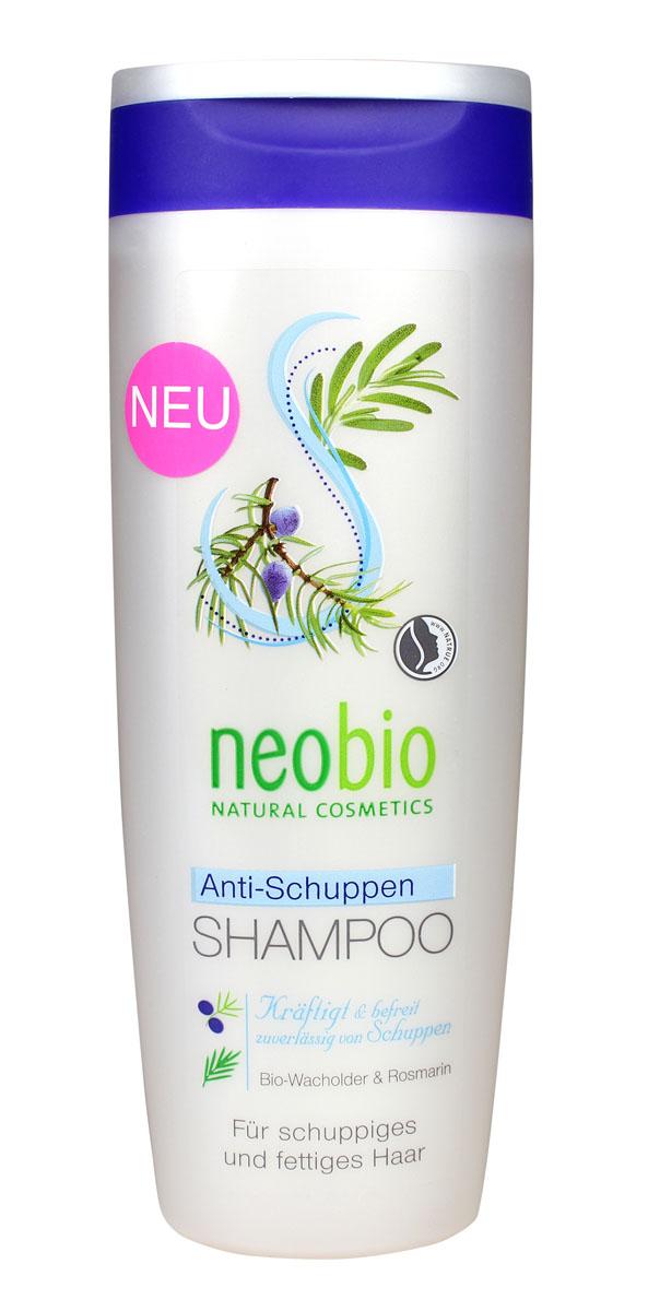 NEOBIO Шампунь против перхоти, 250 мл62394NEOBIO шампунь против перхоти с био-можжевельником и розмарином. Избавляет от перхоти и возвращает волосам здоровый вид. Шампунь против перхоти NEOBIO с мягкими моющими веществами бережно и тщательно очищает волосы и кожу головы. Масло можжевельника и экстракты тополевых почек, березы, крапивы и розмарина оздоравливают кожу головы, предотвращая повторное появление перхоти. Подходит для ежедневного применения.