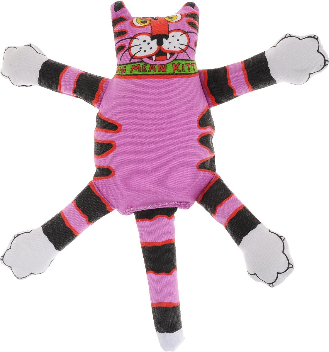 Игрушка для собак Fat Cat Кот-забияка, цвет: фиолетовый, черный0120710Игрушка Fat Cat Кот-забияка - это мечта каждой собаки, которая хочет потрепать кота и получить от этого удовольствие. Кот в свою очередь – не просто яркая игрушка с нахальной мордой, это забияка, который подразнит вашего любимца и даст сдачи во время игры, при тряске он машет лапами и шлепает ими собаку по голове. Внутри игрушки пищалка, срабатывающая при нажатии.Забавное времяпрепровождение вашему другу просто обеспечено! Подойдет для собак средних размеров.