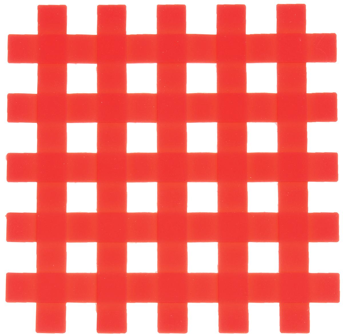 Подставка под горячее Mayer & Boch, силиконовая, цвет: красный, 17 х 17 см20059_красныйПодставка под горячее Mayer & Boch изготовлена из силикона и оформлена в виде сетки. Материал позволяет выдерживать высокие температуры и не скользит по поверхности стола. Каждая хозяйка знает, что подставка под горячее - это незаменимый и очень полезный аксессуар на каждой кухне. Ваш стол будет не только украшен яркой и оригинальной подставкой, но также вы сможете уберечь его от воздействия высоких температур.