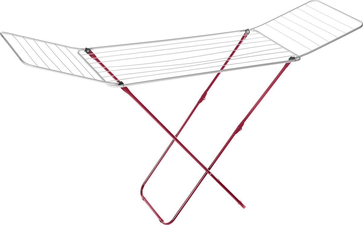 Сушилка для белья Mayer & Boch, цвет: красный, белый, 180 х 50 х 108 см9613Сушилка для белья Mayer & Boch, изготовленная из металла, проста и удобна в использовании. Идеально подходит для любых помещений. Также сушилка имеет распашные створки для более удобной сушки белья. Защитные пластиковые уголки на ножках предотвратят появление царапин на полу. Сушилка для белья легко складывается и в таком состоянии занимает мало места, потому вам легко будет убрать ее в любое удобное для вас место. Размер сушилки в разложенном виде: 180 х 50 х 108 см. Размер сушилки в сложенном виде: 50 х 5 х 125 см.