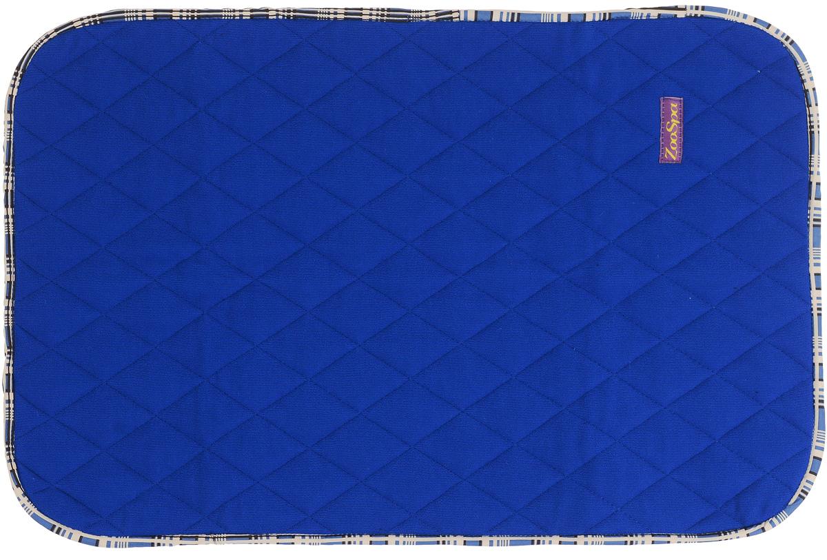 Пеленка впитывающая для животных ZooSpa, многоразовая, 5-ти слойная, цвет: синий, 70 x 50 см0120710Пеленка ZooSpa используется как комфортная впитывающая подстилка в туалетных лотках, в переносках, в автомобиле. Быстро поглощает жидкость в значительных объемах (до 2,5 л на 1 кв. м). Изделие выполнено из 100% полиэстера и ткани ABSO (многослойная абсорбирующая ткань с полиуретановой мембраной). Пеленка состоит из пяти слоев, которые обеспечивают абсолютную защиту от протекания, быстро высыхает и не скользит, лапки вашего питомца всегда сухие, отсутствуют неприятные запахи. Многоразовую пеленку можно стирать минимум 300 раз без потери функциональных свойств. Такая пеленка не загрязняют окружающую среду и экономят ваши деньги. Не содержит наполнителей, не выделяет опасных химических веществ, очень прочная ткань, которую сложно прогрызть или разорвать.Размер пеленки: 70 х 50 см. Материал: ткань ABSO (многослойная абсорбирующая ткань с полиуретановой мембраной), 100% полиэстер.