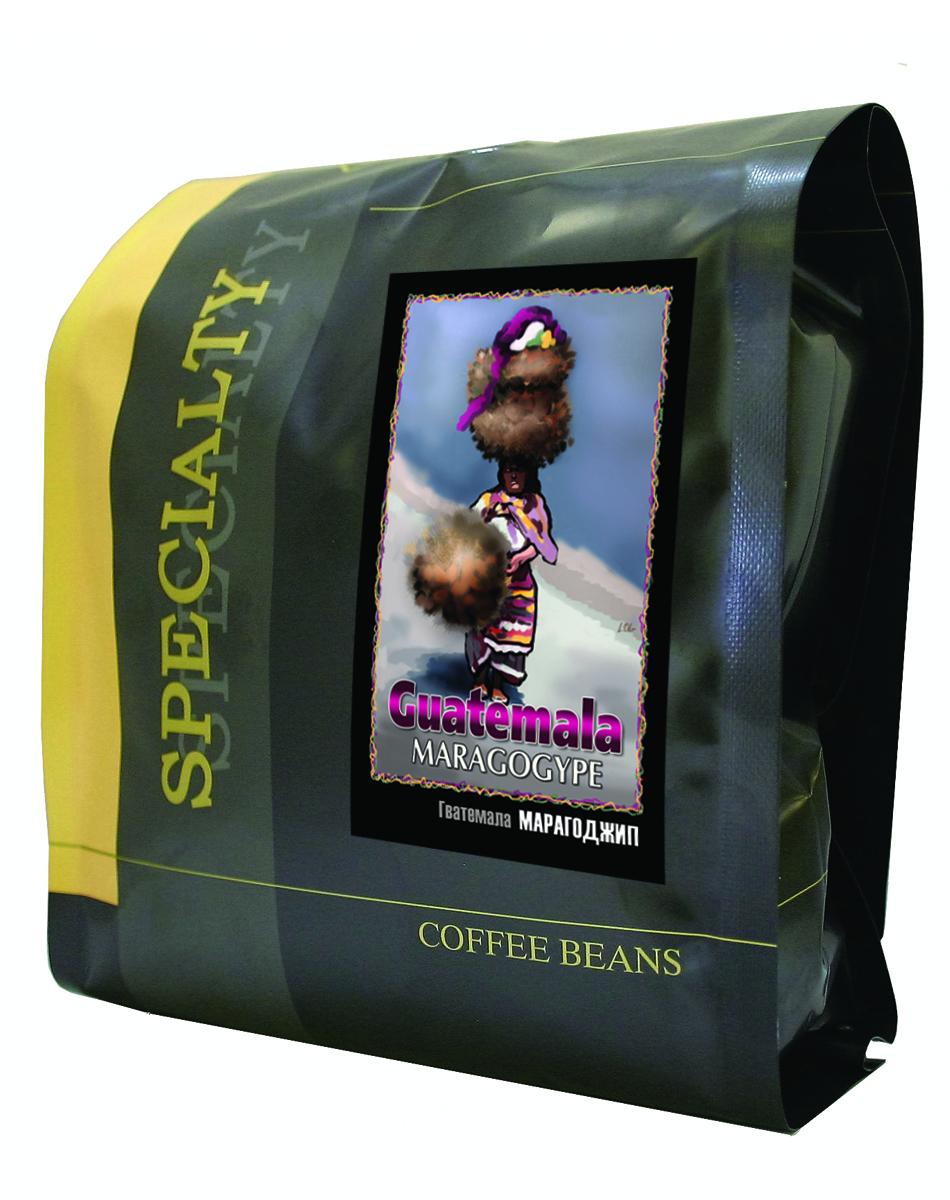 Блюз Марагоджип Гватемала кофе в зернах, 500 г4600696460087Огромные зёрна марагоджипа - самой крупной разновидности арабики, выращиваемые фермерами Гватемалы, затем заботливо обжаренные для вас в Блюзе. Ярко выраженный острый вкус, высокая кислотность и особенный, с привкусом дыма, аромат. Настой насыщенный, с долгим мягким послевкусием. Букет богатый, комплексный, с фруктовыми, цветочными и дымными оттенками.